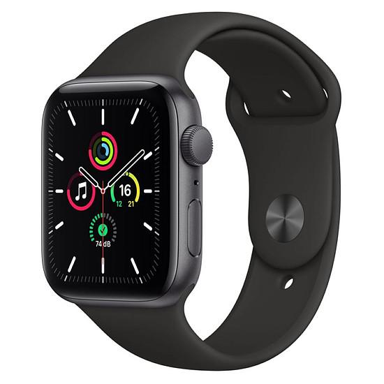 Montre connectée Apple Watch SE Aluminium (Gris sidéral - Bracelet Sport Noir) - GPS - 44 mm
