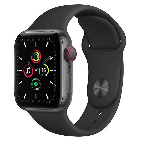 Montre connectée Apple Watch SE Aluminium (Gris sidéral - Bracelet Sport Noir ) - Cellular - 40 mm