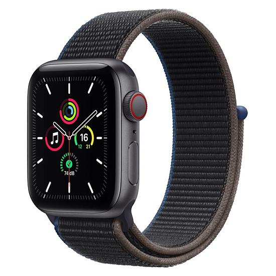 Montre connectée Apple Watch SE Aluminium (Gris sidéral - Bracelet Sport Charbon) - Cellular - 40 mm
