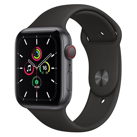 Montre connectée Apple Watch SE Aluminium (Gris sidéral - Bracelet Sport Noir ) - Cellular - 44 mm