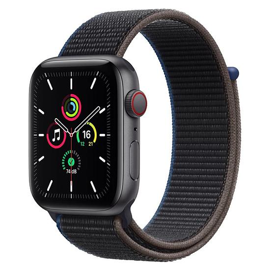 Montre connectée Apple Watch SE Aluminium (Gris sidéral - Bracelet Sport Charbon) - Cellular - 44 mm
