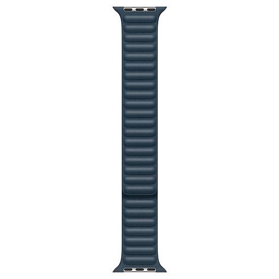 Accessoires montre et bracelet Apple Bracelet à maillons cuir bleu Baltique 44 mm - S/M