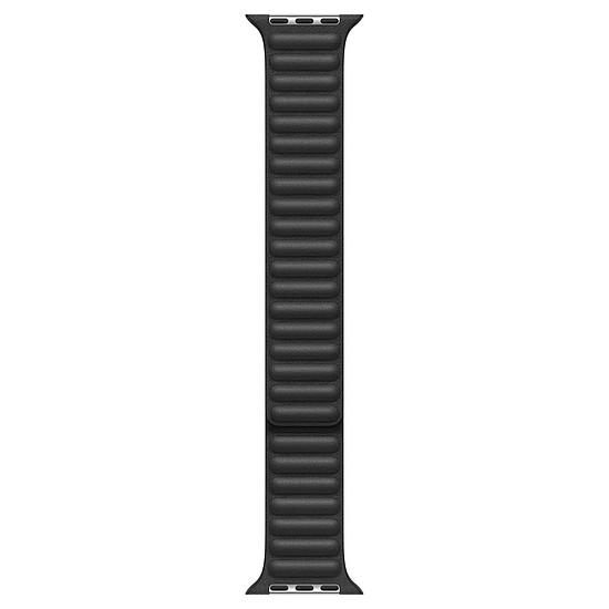 Accessoires montre et bracelet Apple Bracelet à maillons cuir noir 44 mm - M/L