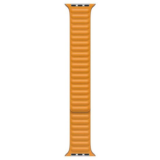 Accessoires montre et bracelet Apple Bracelet à maillons cuir pavot de Californie 44 mm - M/L
