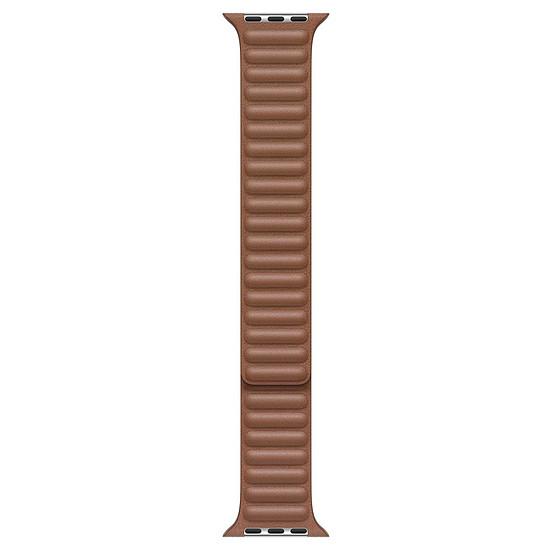 Accessoires montre et bracelet Apple Bracelet à maillons cuir havane 44 mm - M/L