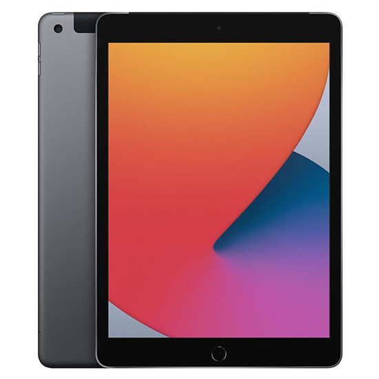 Tablette Apple iPad Wi-Fi + Cellular 10.2 - 128 Go - Gris sidéral (8 ème génération)