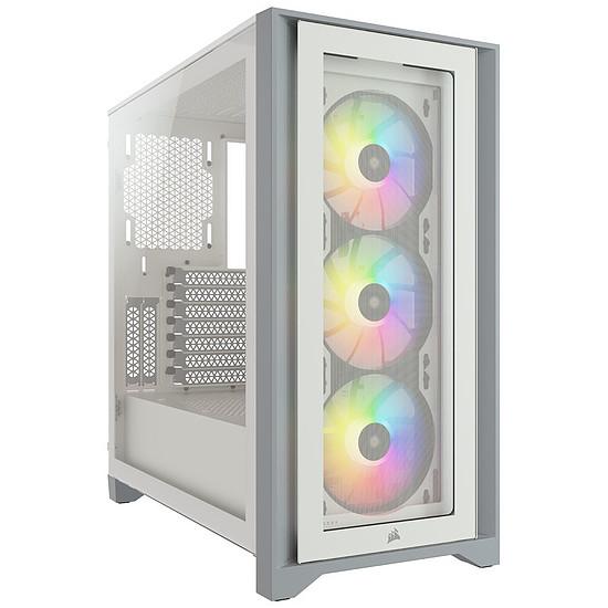 Boîtier PC Corsair  ICUE 4000X - Blanc