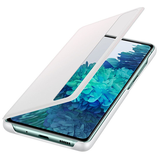 Coque et housse Samsung Clear View Cover Blanc Galaxy S20 FE