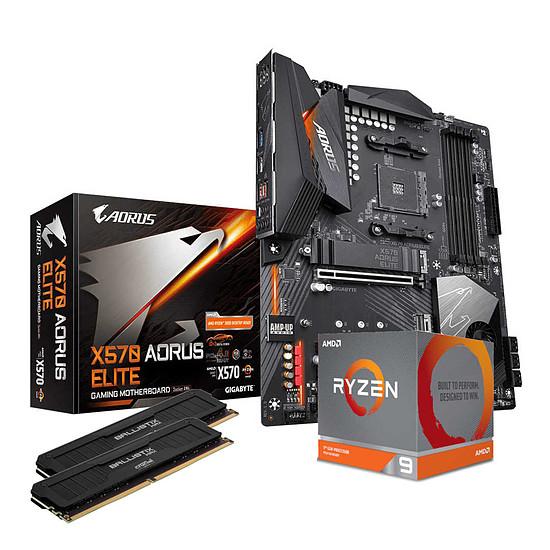 Kit upgrade PC AMD Ryzen 9 3900X - Aorus X570 - RAM 32Go 4000Mhz