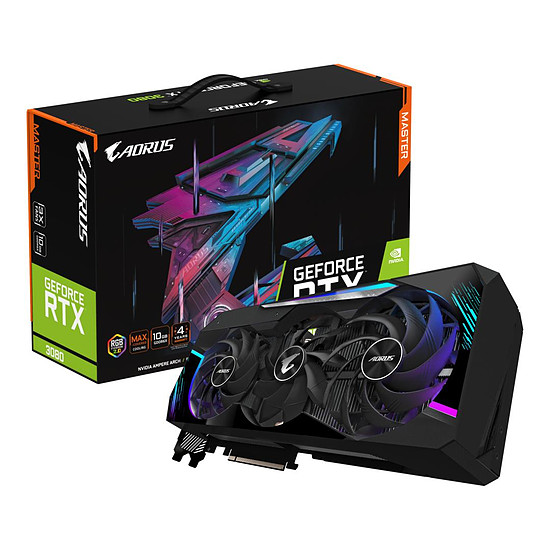 Carte graphique Gigabyte Aorus GeForce RTX 3080 MASTER 10G