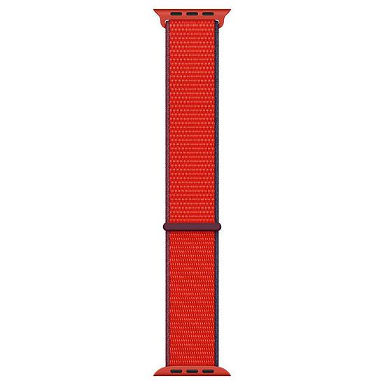 Accessoires montre et bracelet Apple Bracelet Sport Loop 40 mm PRODUCT(RED)