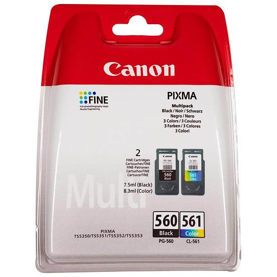 Cartouche d'encre Canon MultiPack PG-560 + CL-561 standard sous blister