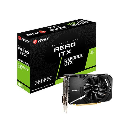 Carte graphique MSI GeForce GTX 1650 D6 AERO ITX OCV1