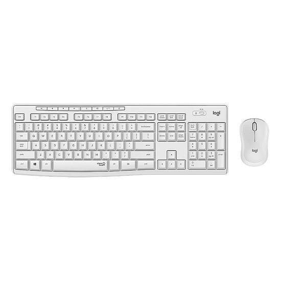 Pack clavier-souris bureautique Logitech MK295 Silent - Blanc