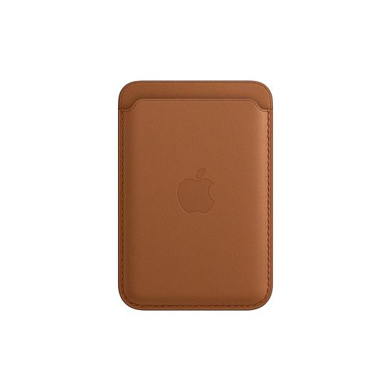 Coque et housse Apple Porte-cartes en cuir avec MagSafe pour iPhone - Havane