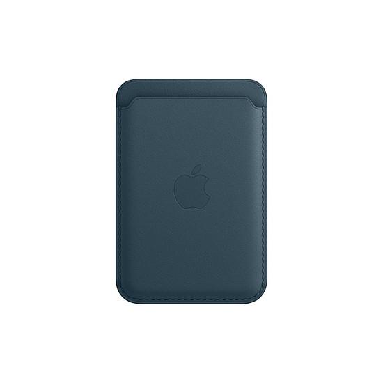 Coque et housse Apple Porte-cartes en cuir avec MagSafe pour iPhone - Bleu Baltique