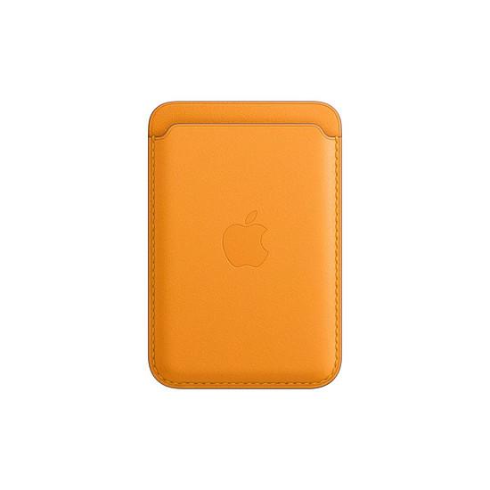 Coque et housse Apple Porte-cartes en cuir avec MagSafe pour iPhone - Pavot de Californie