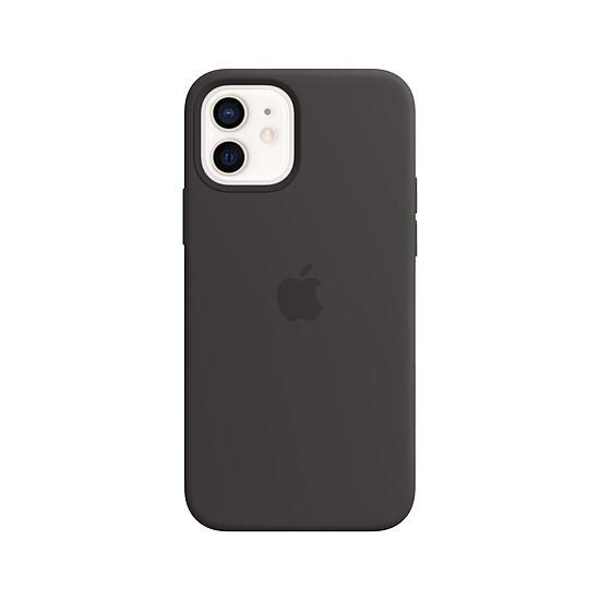 Coque et housse Apple Coque en silicone avec MagSafe pour iPhone 12 | 12 Pro - Noir