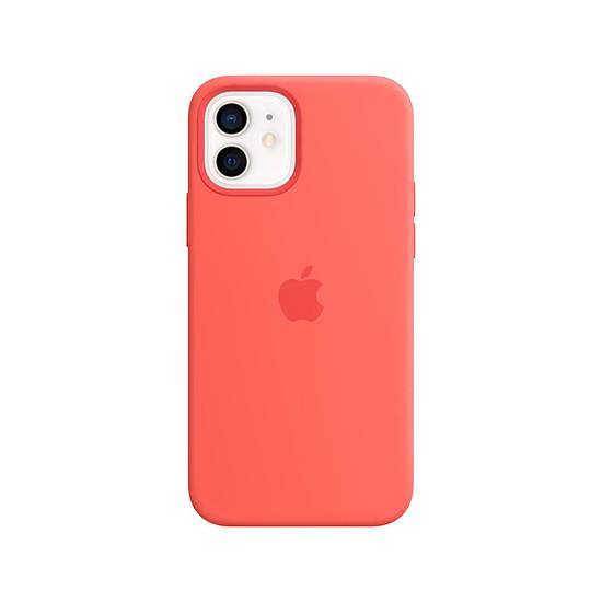 Coque et housse Apple Coque en silicone avec MagSafe pour iPhone 12 / 12 Pro - Rose agrume