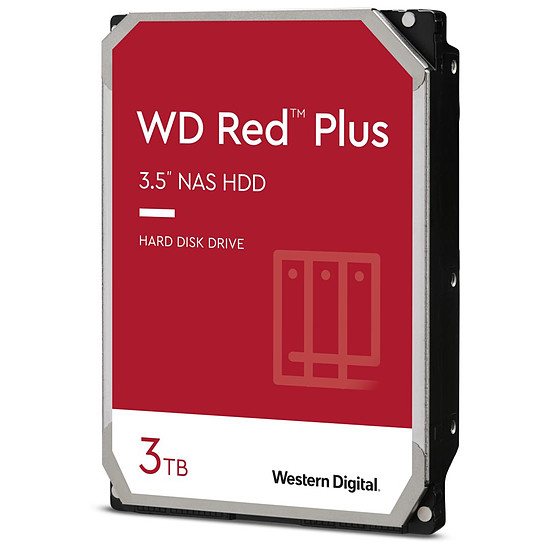 Disque dur interne Western Digital WD Red Plus - 3 To - 64 Mo