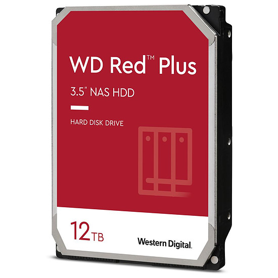 Disque dur interne Western Digital WD Red Plus - 12 To - 256 Mo