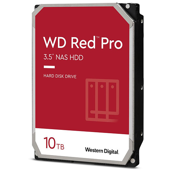 Disque dur interne Western Digital WD Red Pro - 4 x 10 To (40 To) - 256 Mo