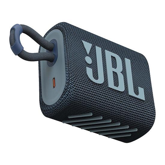 Enceinte sans fil JBL GO 3 Bleu - Enceinte portable