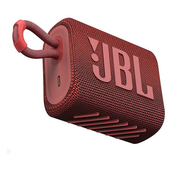 Enceinte sans fil JBL GO 3 Rouge - Enceinte portable