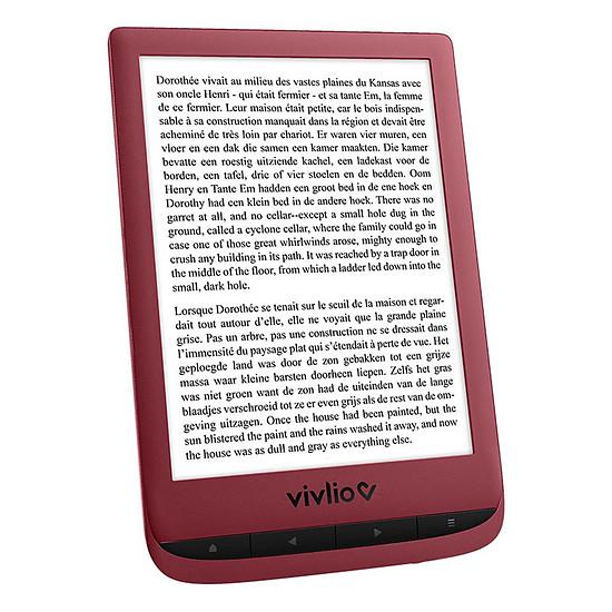 Liseuse numérique Vivlio Touch Lux 5 Rouge - Pack d'eBooks OFFERT