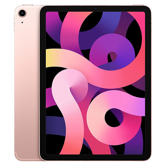 Tablette Apple iPad Air 2020 10,9 pouces Wi-Fi + Cellular - 64 Go - Or rose (4 ème génération)