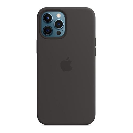 Coque et housse Apple Coque en silicone avec MagSafe pour iPhone 12 Pro Max - Noir