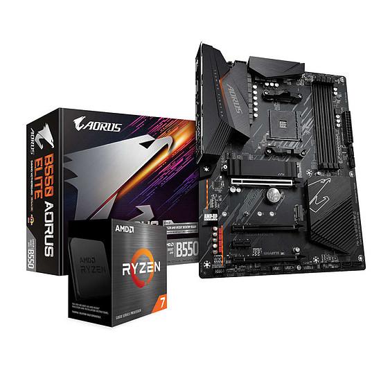 Kit upgrade PC AMD Ryzen 7 5800X + Gigabyte B550 AORUS ELITE