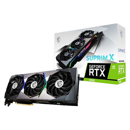 Carte graphique MSI GeForce RTX 3080 SUPRIM X 10G