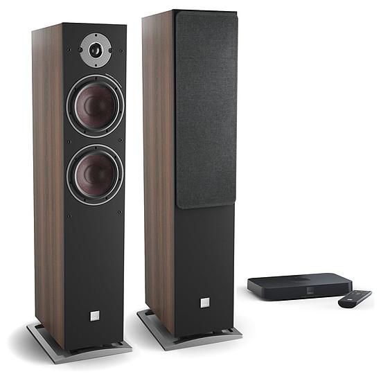Enceintes HiFi / Home-Cinéma Dali Oberon 7 C (la paire) - Noyer foncé + Sound Hub Compact