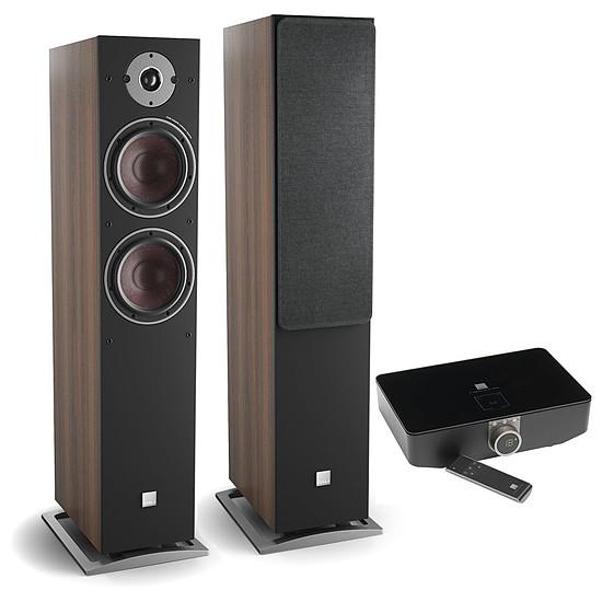 Enceintes HiFi / Home-Cinéma Dali Oberon 7 C (la paire) - Noyer foncé + Sound Hub + Module de streaming BluOS NPM-1