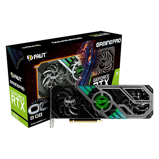 Carte graphique Palit GeForce RTX 3070 GamingPro OC