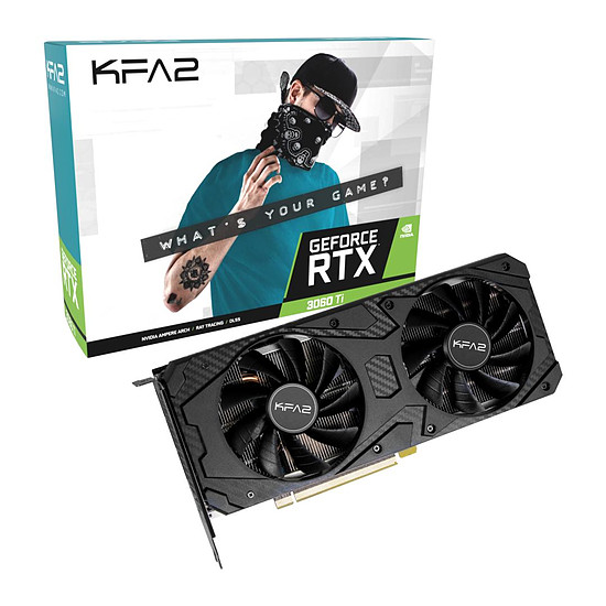 Carte graphique KFA2 GeForce RTX 3060 Ti (1-Click OC)