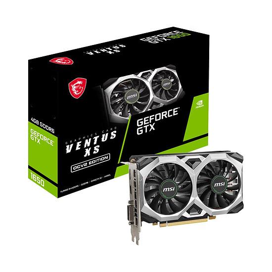 Carte graphique MSI GeForce GTX 1650 D6 VENTUS XS OCV2