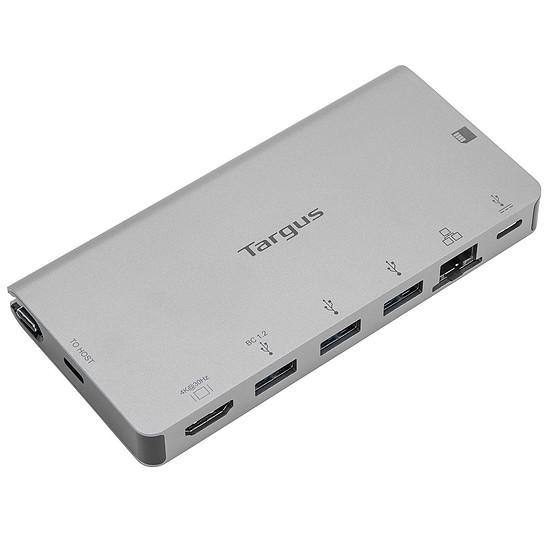 USB Targus Station d'accueil USB-C vers HDMI 4K, DP Alt Mode Single Vidéo, avec lecteur de carte, 100 W PD Pass-Through et câble USB-C amovible