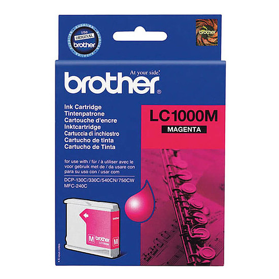 Cartouche d'encre Brother LC1000M Magenta