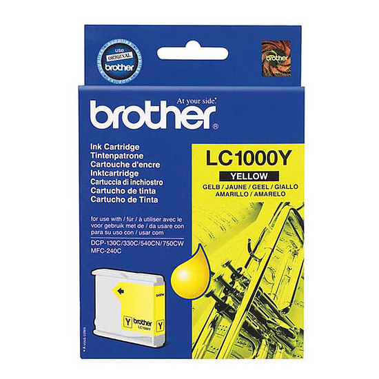 Cartouche d'encre Brother LC1000Y Jaune