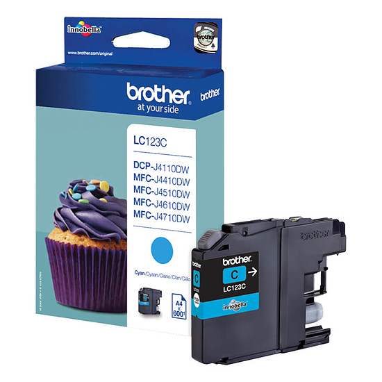Cartouche d'encre Brother LC123C Cyan