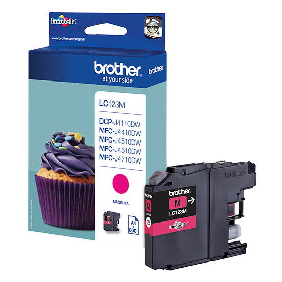 Cartouche d'encre Brother LC123M Magenta