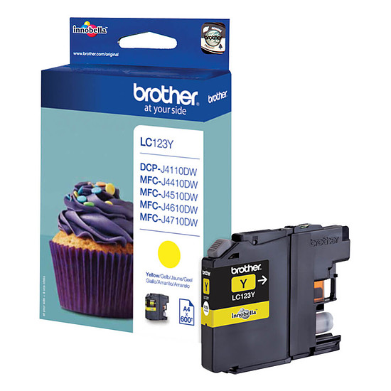 Cartouche d'encre Brother LC123Y Jaune