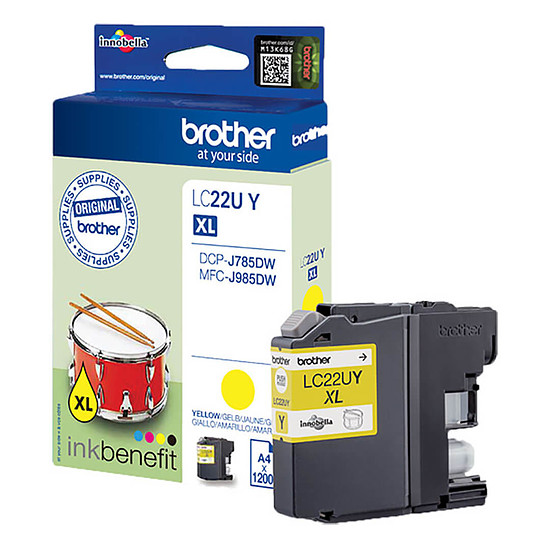 Cartouche d'encre Brother LC22UY Jaune