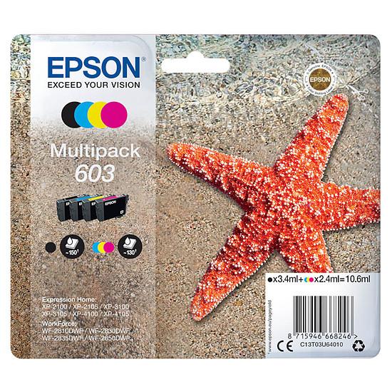 Cartouche d'encre Epson Etoile de mer 603, 4 couleurs