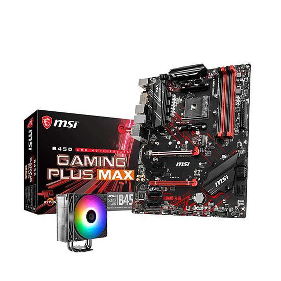 Carte mère MSI B450 GAMING PLUS MAX + Fox Spirit Cold Snap VT120 A-RGB