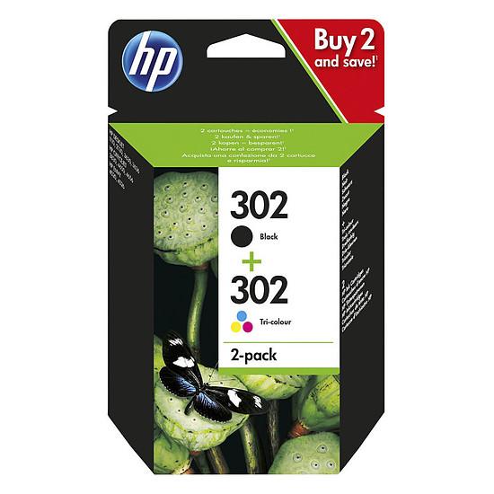Cartouche d'encre HP 302 Combo Noir/3 couleurs (X4D37AE)