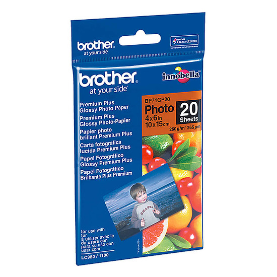 Papier imprimante Brother BP71GP20