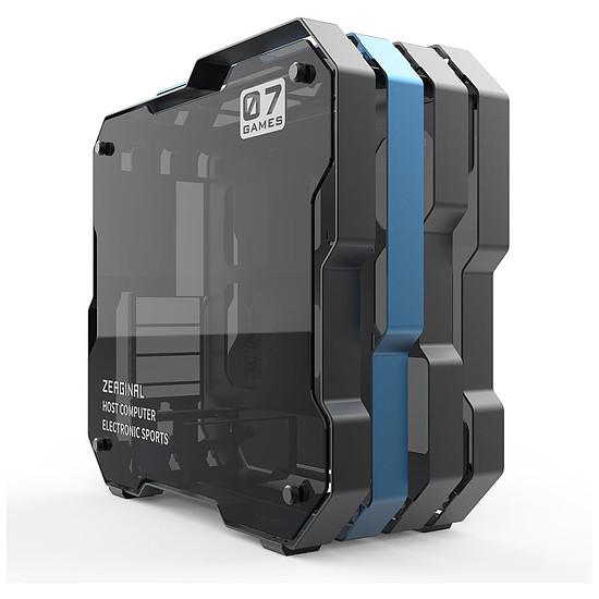 Boîtier PC Zeaginal ZC-07 - Bleu/Noir